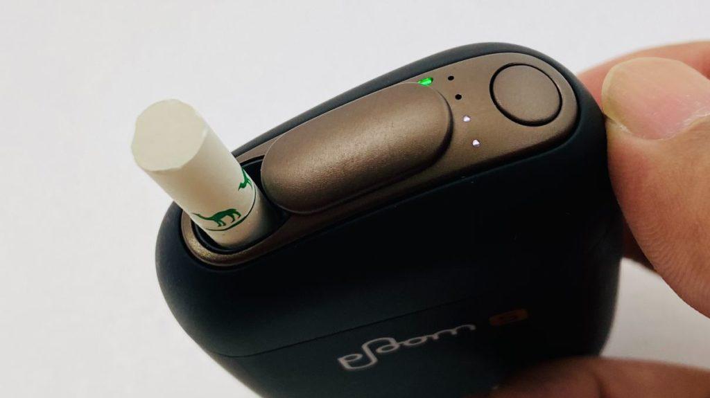 Ploom S 2.0の加熱時