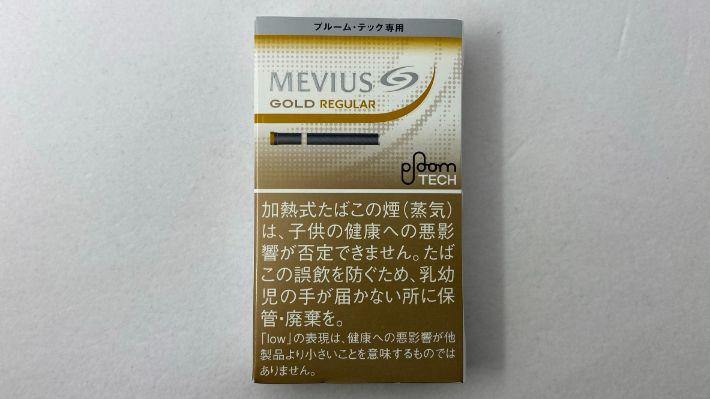 メビウス・ゴールド・レギュラーのパッケージ表面
